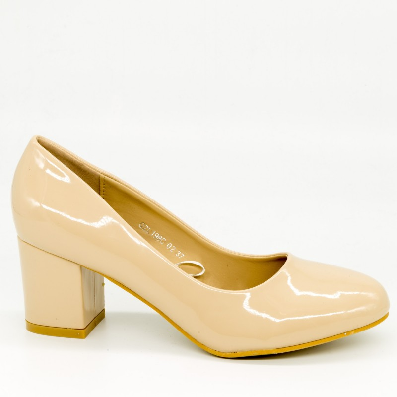 Pantofi cu Toc QZL198C Nude Mei