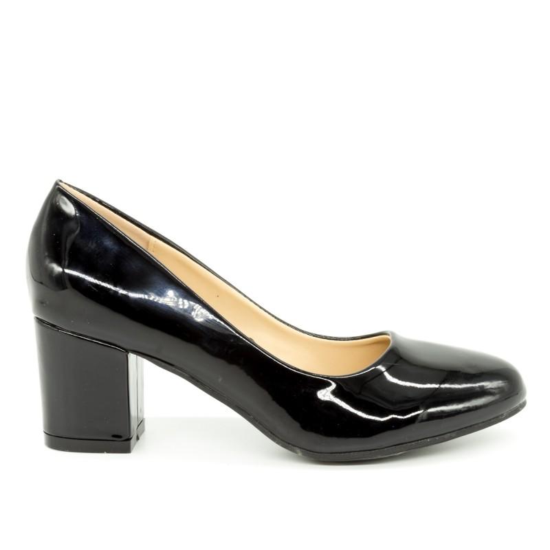 Pantofi cu Toc QZL198C Black Mei
