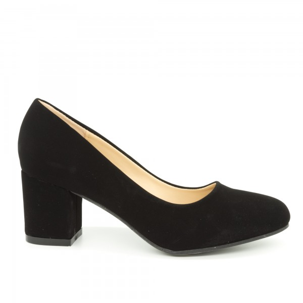 Pantofi cu Toc QZL198B Black Mei