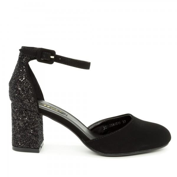 Pantofi cu Toc XD120A Black Mei