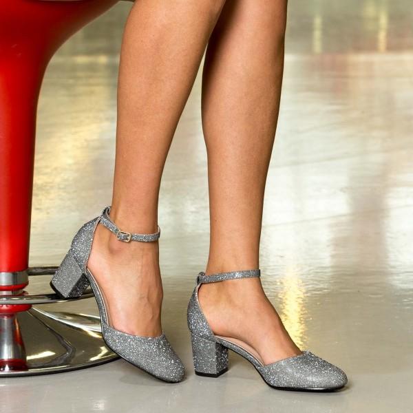 Pantofi cu Toc XD111F Pewter Mei