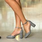 Pantofi cu Toc XD110F Pewter Mei