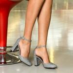Pantofi cu Toc XD116F Pewter Mei