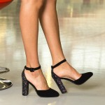 Pantofi cu Toc XKK151 Purple Mei