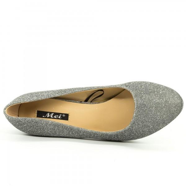 Pantofi cu Toc QZL131F Pewter Mei