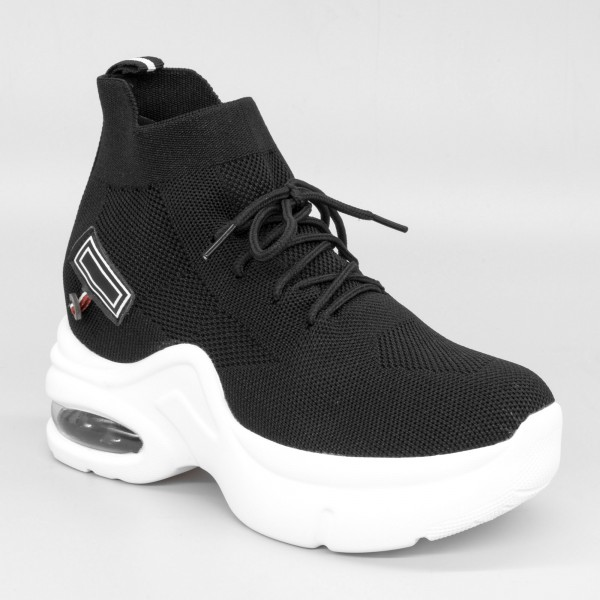 Pantofi Sport cu Platforma Dama QQ3 Black Mei
