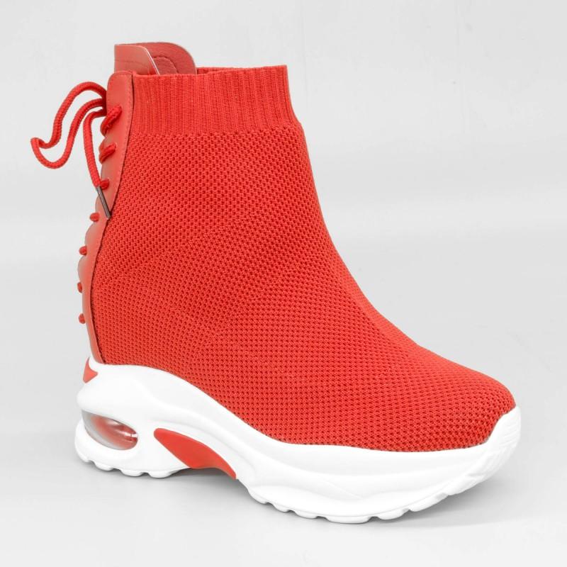 Pantofi Sport cu Platforma Dama SZ172 Red Mei