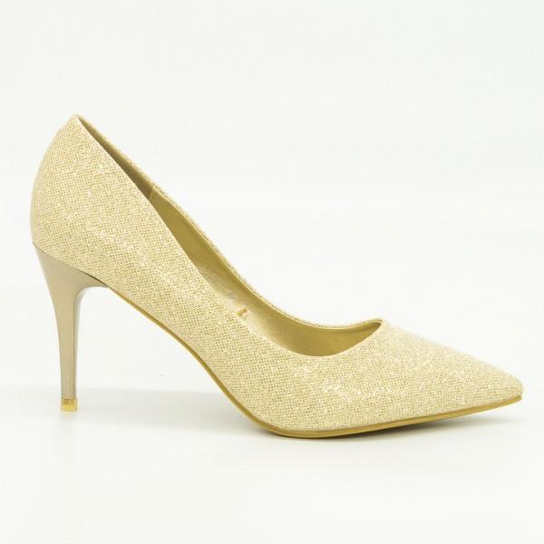 Pantofi cu Toc LLH21 Gold Mei