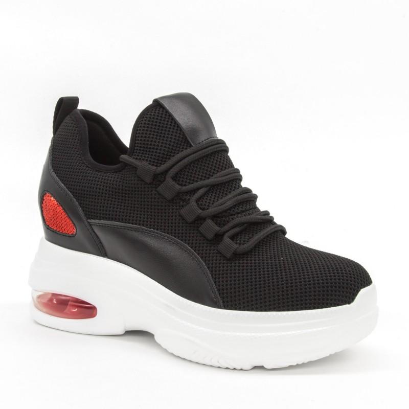 Pantofi Sport cu Platforma Dama SJN251 Black Mei