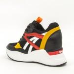 Pantofi Sport cu Platforma Dama SZ191 Black Mei