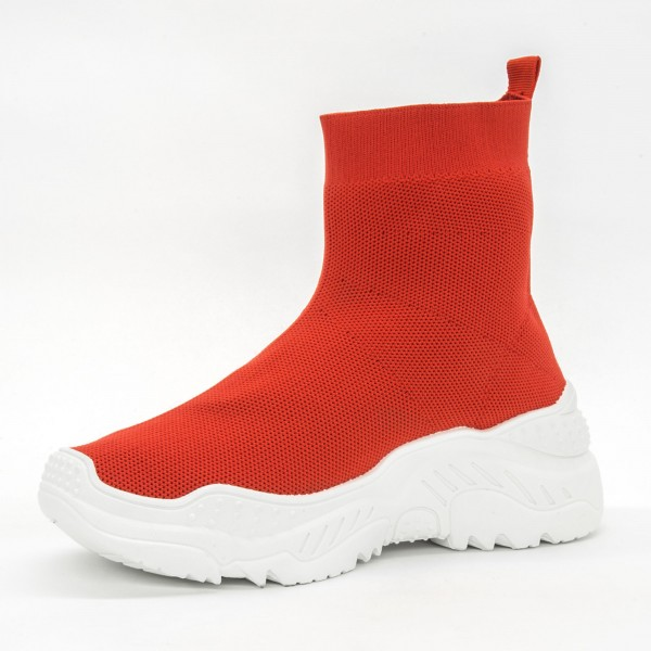 Pantofi Sport cu Platforma Dama 901 Red Diamantique