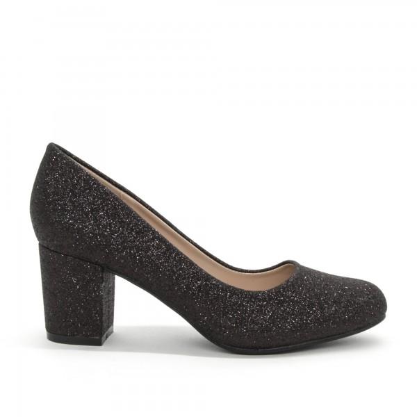 Pantofi cu Toc XD127B Black Mei