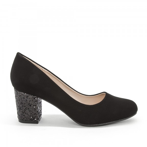 Pantofi cu Toc XD127A Black Mei