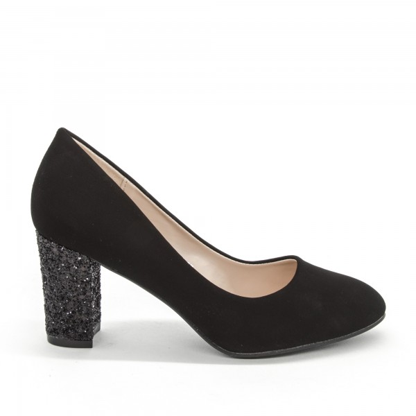 Pantofi cu Toc XD126A Black Mei