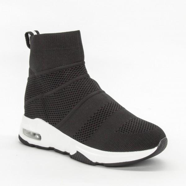 Pantofi Sport cu Platforma Dama SZ177 Black Mei