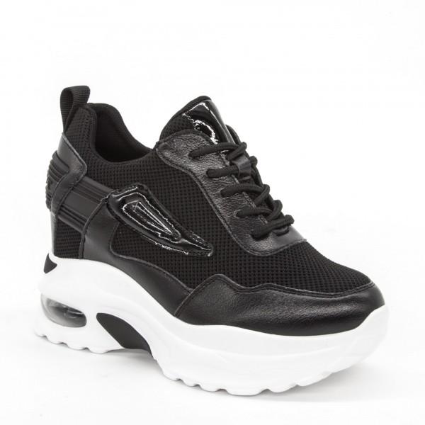 Pantofi Sport cu Platforma Dama SJN257 Black Mei