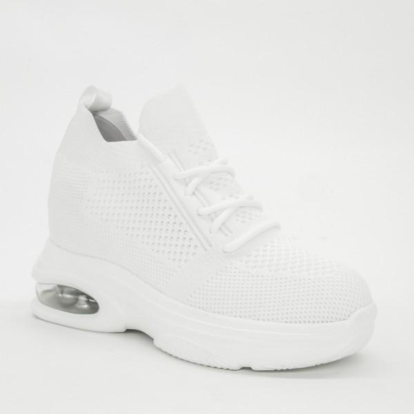 Pantofi Sport cu Platforma Dama CJL9 White Mei