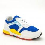 Pantofi Sport Dama ABC286 White-Blue Sport Fashion