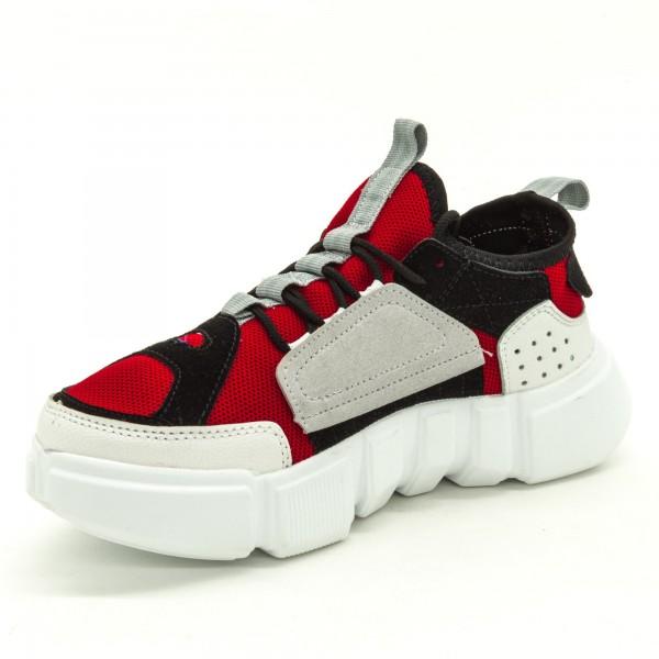 Pantofi Sport Dama FK1813 Red-White Sport Fashion