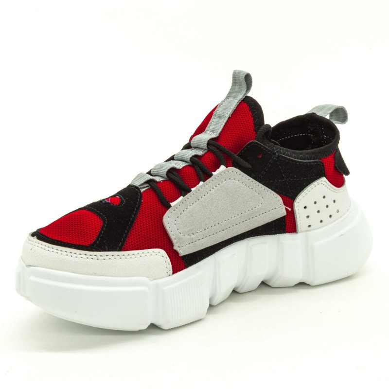 Pantofi Sport Dama FK1813 Red-White Sport Fashion