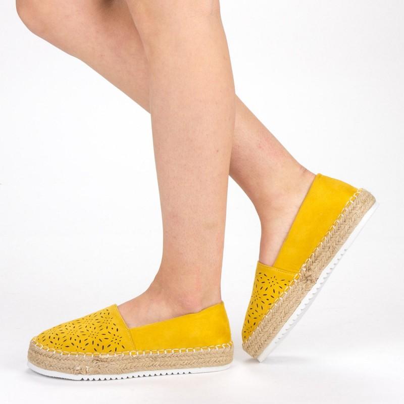 Pantofi Casual Dama FD37 Yellow Mei