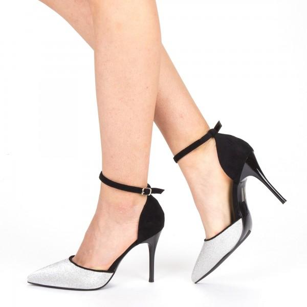 Pantofi cu Toc GE32 Silver Mei