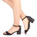 Sandale Dama cu Toc QZL218 Black Mei