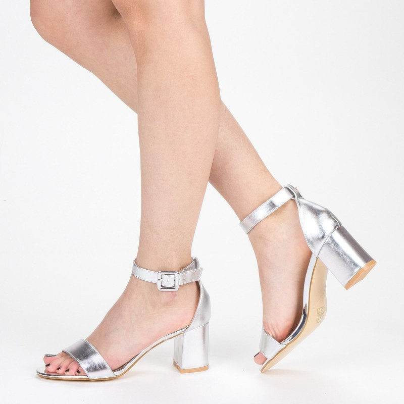 Sandale Dama cu Toc XD210 Silver Mei