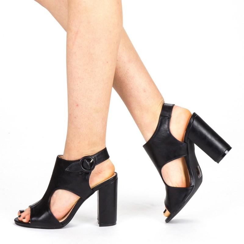 Sandale Dama cu Toc YBS50 Black Mei