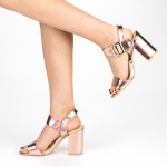 Sandale Dama cu Toc YBS36 Champagne Mei