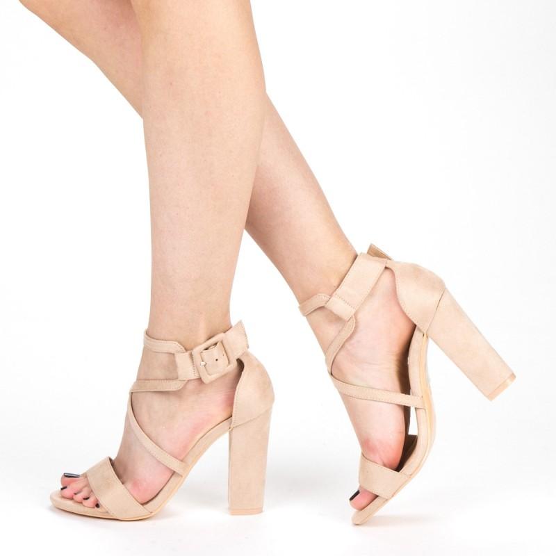 Sandale Dama cu Toc XKK160A Beige Mei