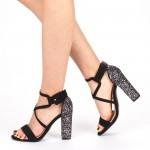 Sandale Dama cu Toc XKK160 Gold Mei