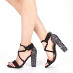 Sandale Dama cu Toc XKK160 Guncolor Mei
