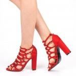 Sandale Dama cu Toc XKK155 Red Mei