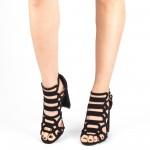 Sandale Dama cu Toc XKK155 Black Mei