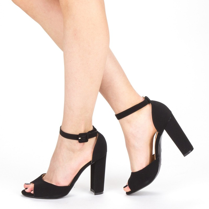 Sandale Dama cu Toc XKK110A Black Mei