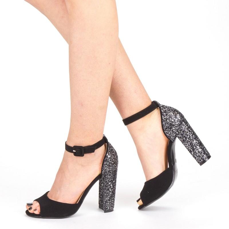 Sandale Dama cu Toc XKK110 Guncolor Mei