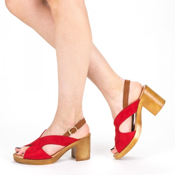 Sandale Dama cu Toc XD225 Red Mei