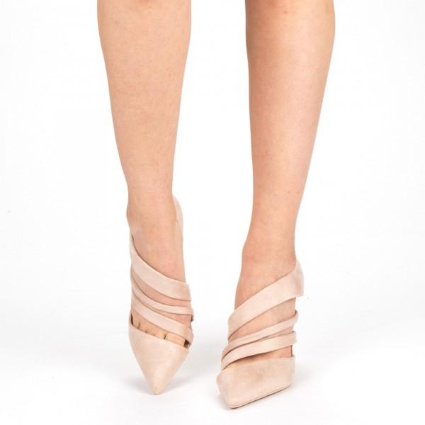 Pantofi cu Toc XD207 Beige Mei