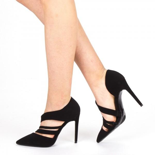 Pantofi cu Toc XD207 Black Mei