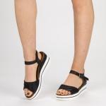 Sandale Dama cu Platforma WT60 Black Mei