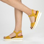 Sandale Dama cu Platforma WT58 Yellow Mei