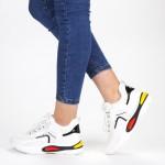 Pantofi Sport Dama cu Platforma SZ199 White Mei