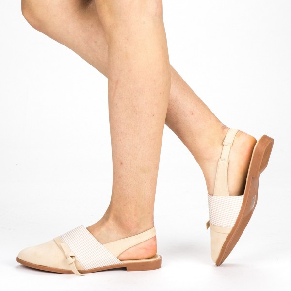Sandale Dama cu Toc WH23 Beige Mei
