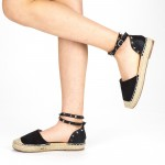 Sandale Dama cu Toc si Platforma HJ2 Black Mei