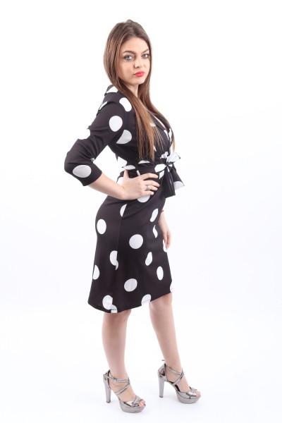 Rochie Dama HR7703 Negru Mei