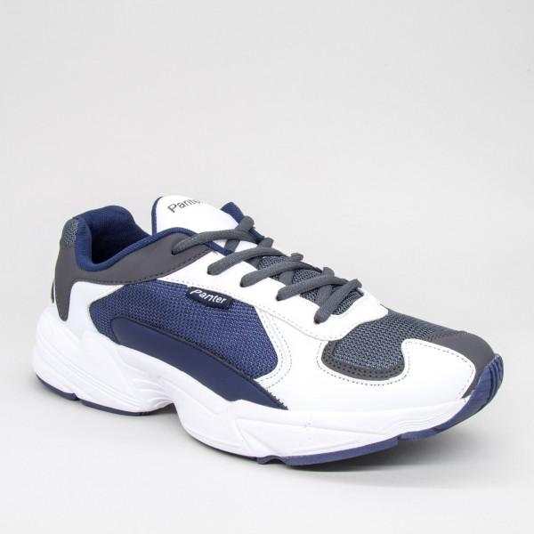 Pantofi Sport Barbati 076&C White-Navy Panter