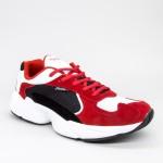 Pantofi Sport Barbati 076&B White-Red Panter