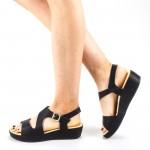 Sandale Dama cu Platforma GH115 Black Mei