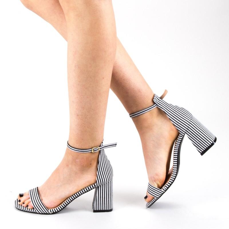 Sandale Dama cu Toc WH15 Black Mei